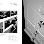Bouton de meuble GEO Noir ou transparent Arius design