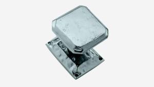 bouton de tirage bronze octogonal