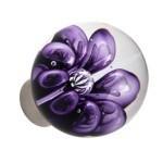 bulles de fleur sphérique poignées transparentes