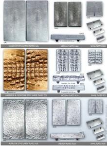 Poignée de tirage de porte ou de meuble ligne Galuchat, Autruche, Alligator