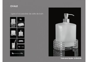Collection OVALE accessoires SDB