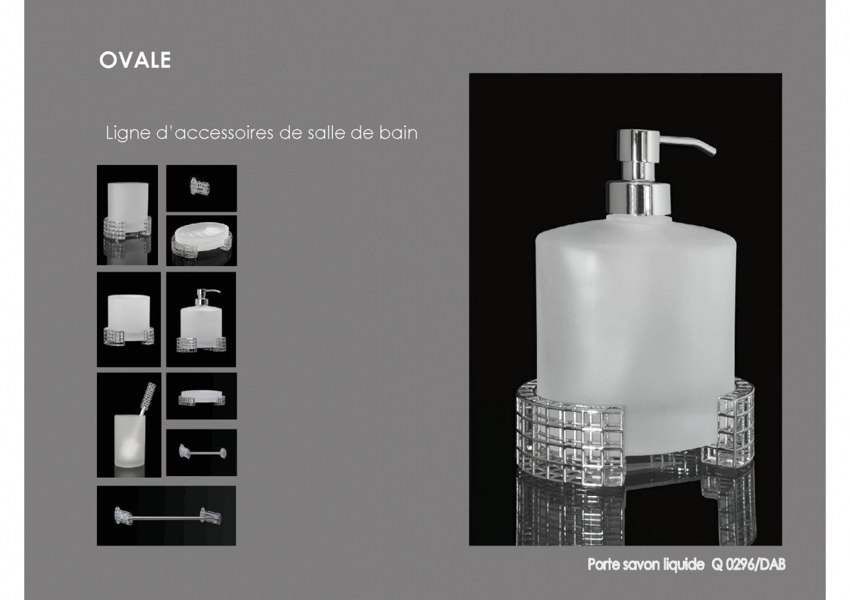 ligne d 39 accessoires pour salles de bains gamme ovalepoign es d coration. Black Bedroom Furniture Sets. Home Design Ideas