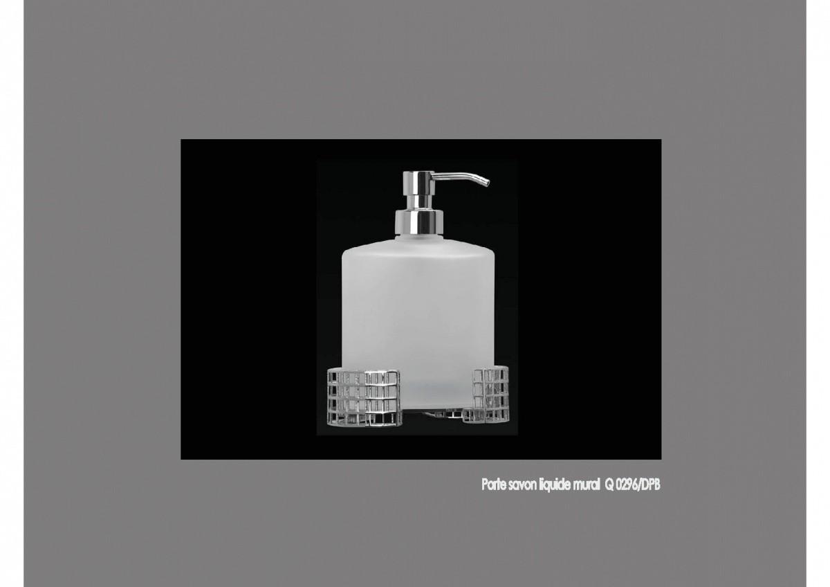 Porte savon liquide mural gamme ovale pour salles de for Porte savon liquide mural