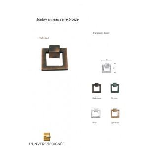 Bouton anneau carré Bronze