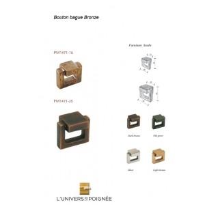 Bouton de meuble bague en bronze