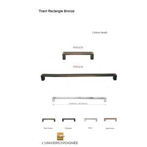 Tirant de porte rectangle bronze