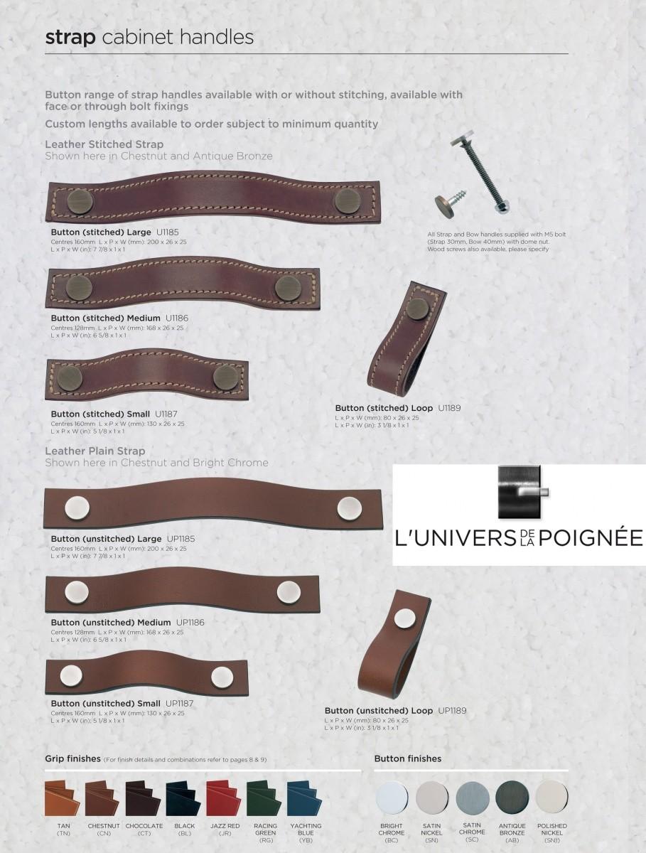 poign e sangle en cuir pour ouvrir vos portes de meubles. Black Bedroom Furniture Sets. Home Design Ideas