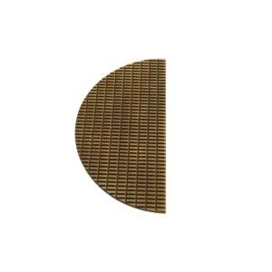 Plaque 1/2 lune Cabochon PM Bronze mat