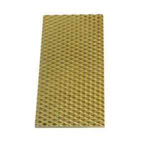 Plaque rectangle Arlequin MM Laiton poli