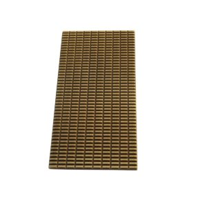 Plaque rectangle Cabochon PM Bronze mat